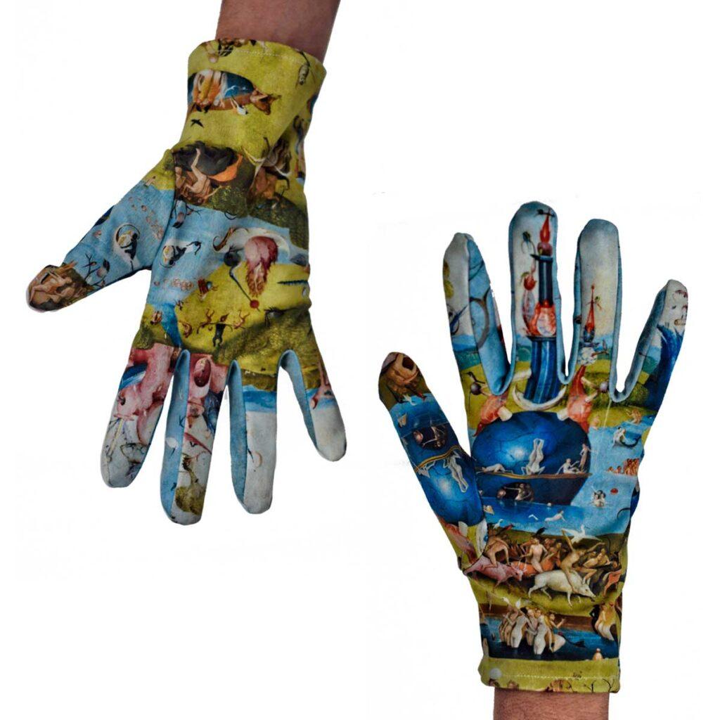 guantes diseño el jardin de las delicias el bosco