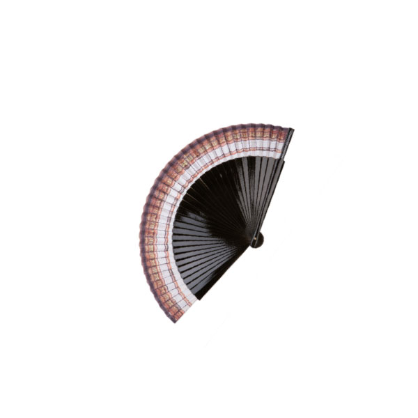 FAN WITH NATURAL OR VARNISHED PEAR WOOD RIBS