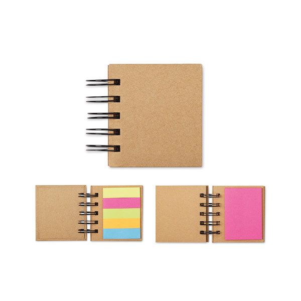 NOTEBOOK WITH ADHESIVES NOTES