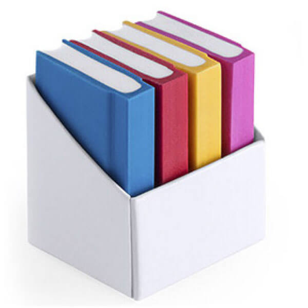 SET OF 4 ERASERS IN SHAPE OF BOOK