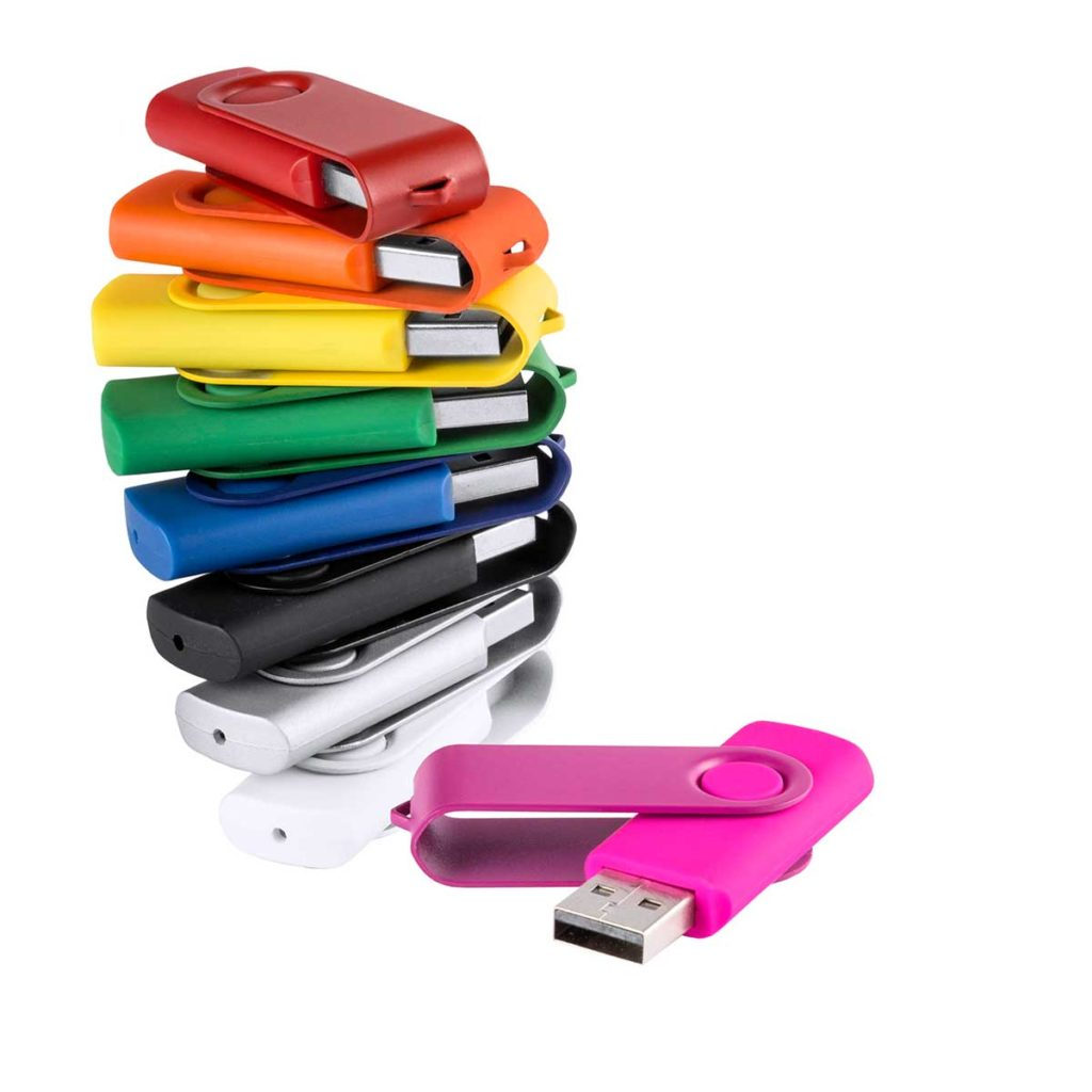 COLOURED FLASH DRIVE 8GB