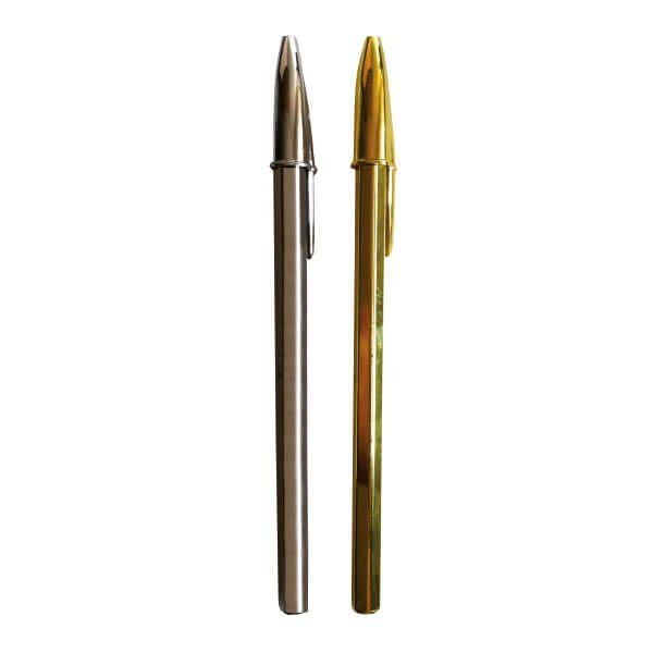 Bolígrafo Bic oro y plata