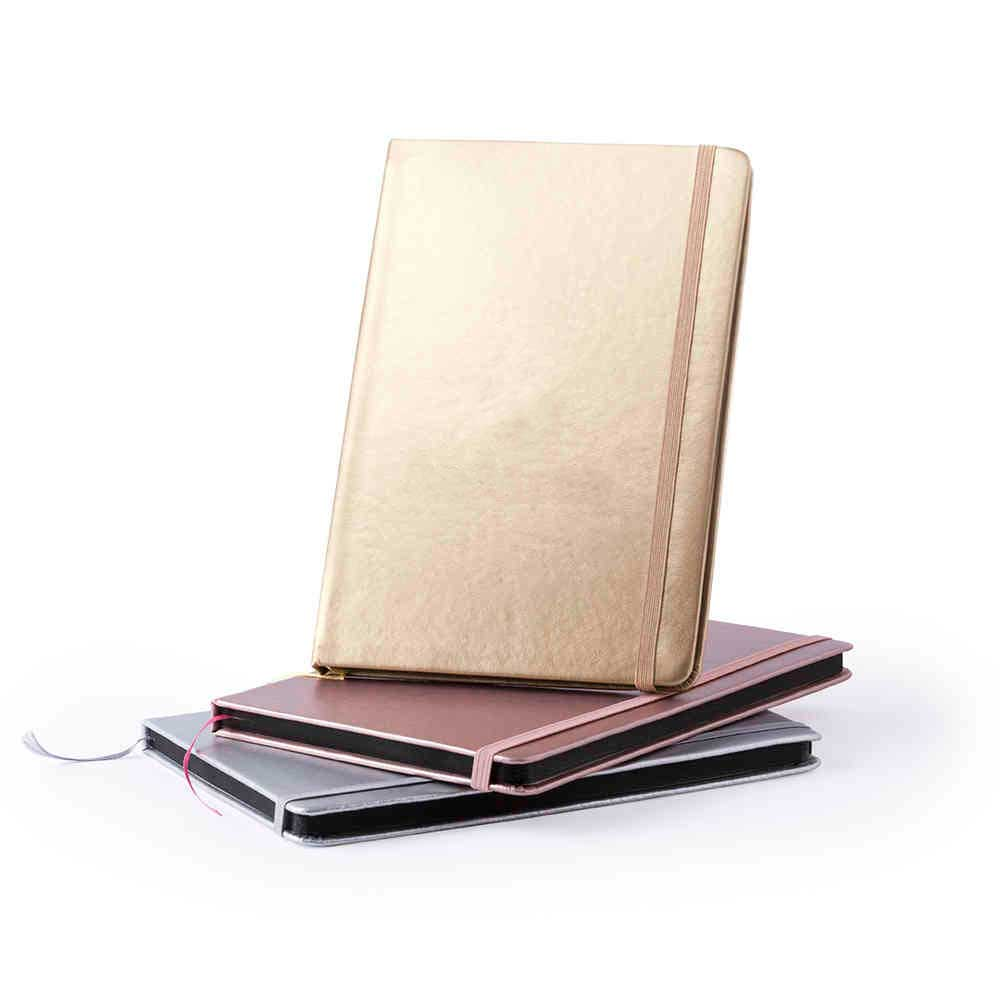 METALLIC NOTEPAD WITH HARD COVER
