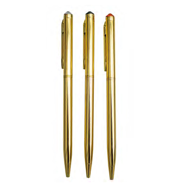 PEN COLOUR GOLD WITH DIAMONDS CRYSTAL