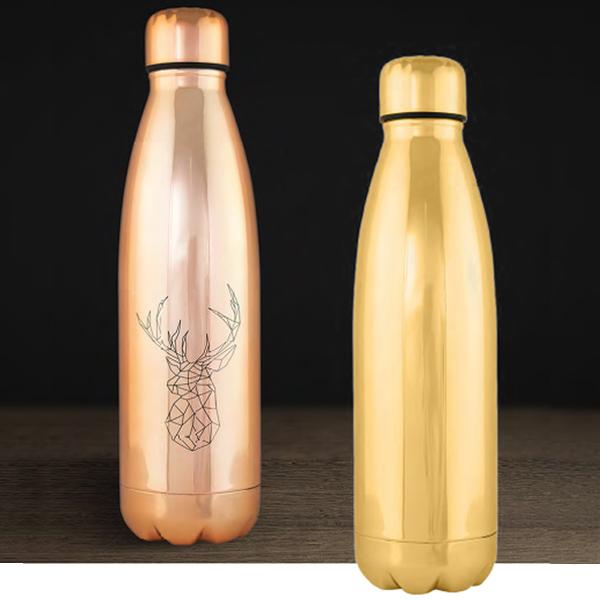 botella oro cobre