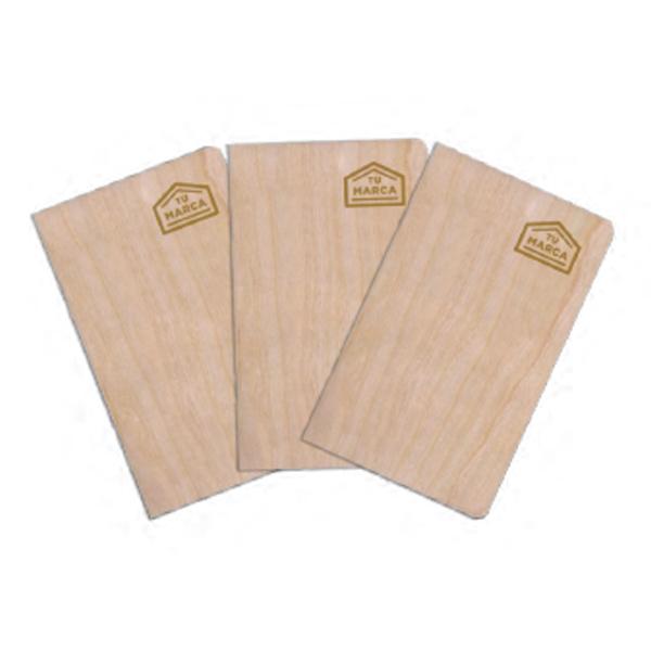 libreta madera natural